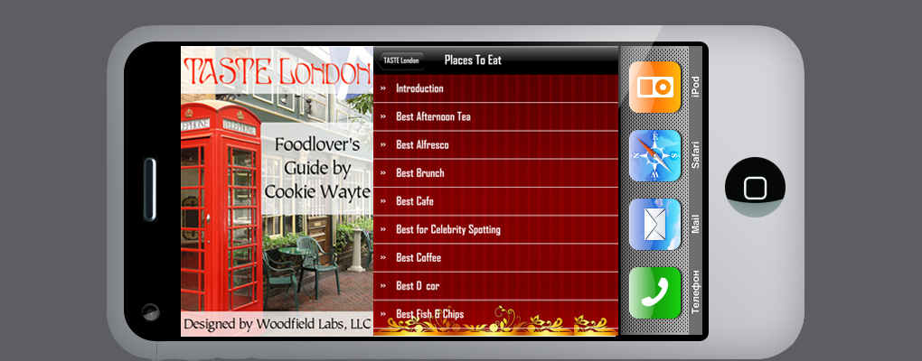 Then our TASTE London app is for you. Order the App today.